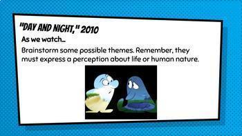 Teaching Theme With Pixar Short Films