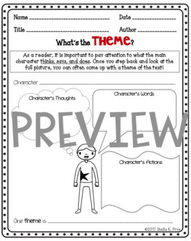 Teaching Theme Posters, Graphic Organizers, Essential Questions BUNDLE