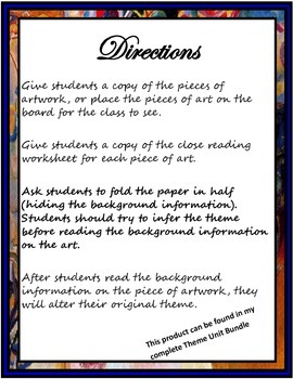 Arts Integration: Teaching Theme in Literature through Art