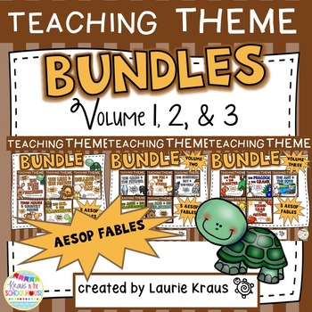 Teaching Theme with Aesop's Fables Bundle - Volume One, Volume Two, & Volume 3