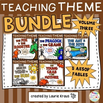 Teaching Theme with Aesop's Fables Bundle Volume Three