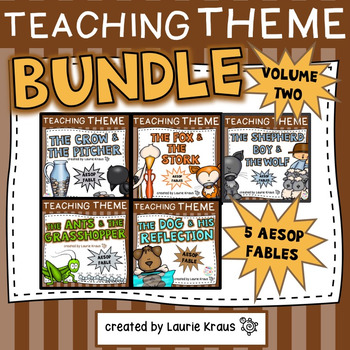 Teaching Theme with Aesop's Fables -  Volume One & Volume Two