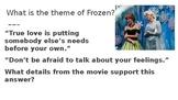 Teaching Theme with Disney Movies