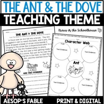 Teaching Theme with Fables - The Ant & the Dove