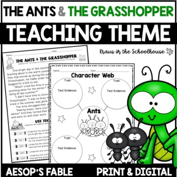 Teaching Theme with Fables - The Ants & the Grasshopper