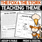 Teaching Theme Fables The Fox & the Stork Easel Activity Distance Learning