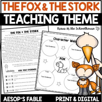 Teaching Theme with Fables - The Fox and the Stork