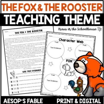 Teaching Theme with Fables - The Fox & the Rooster