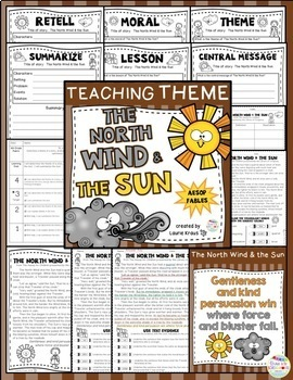 Teaching Theme with Fables - The North Wind & the Sun