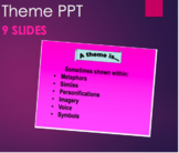 Teaching Theme with Metaphor, Similie, Personification & More! PPT