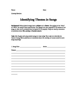 Teaching Theme with Music