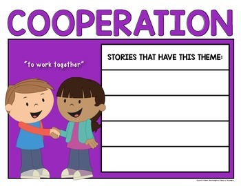 Teaching Theme {Interactive Posters} for First Grade & Kindergarten