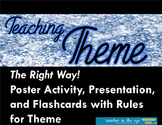 Teaching Theme...The Right Way! Handouts with Flashcards a