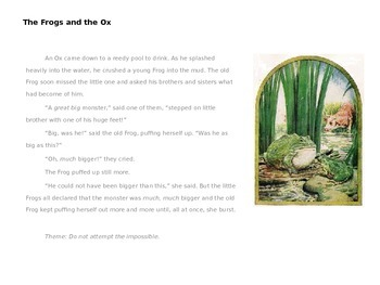Teaching Themes Through Aesop's Fables