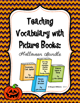Teaching Tier 2 Vocabulary with Picture Books: Halloween Bundle