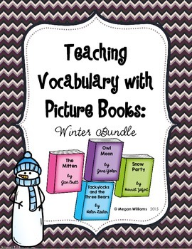 Teaching Tier 2 Vocabulary with Picture Books: Winter Bundle
