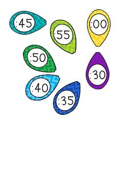 Teaching Time - Chevron Clock Labels