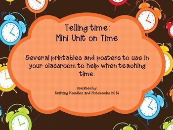 Teaching Time Mini Unit