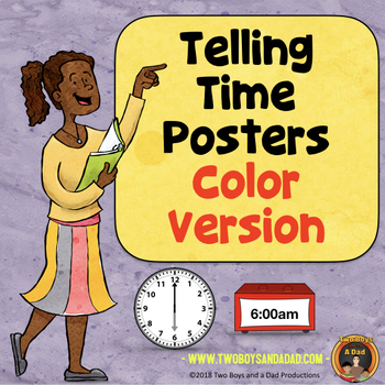 Telling Time POSTERS Color Version