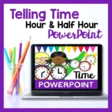 Teaching Time PowerPoint (Hour, Half Past & Quarter Past)