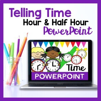Teaching Time PowerPoint (Hour, Half Past & Quarter Past)