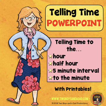 Teaching Time PowerPoint and Printables
