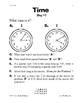 Teaching Time Worksheets - 3rd, 4th, 5th Grade Math
