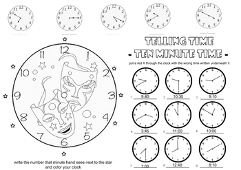 Teaching Time in 10 minute increments