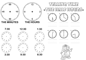Teaching Time in 30 minute increments