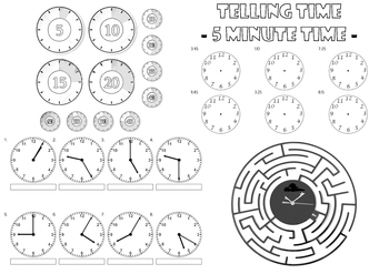 Teaching Time in 5 minute increments
