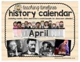 Teaching Timelines Calendar - April