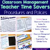 Classroom Management Time Savers