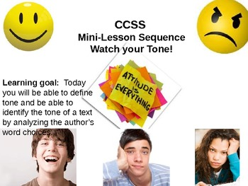 Teaching Tone Lesson Sequence:Helping students analyze the