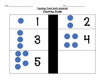 Teaching Touch Math - Matching Numbers 1-5