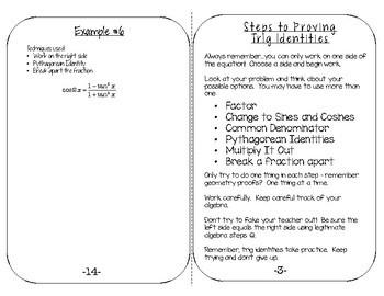 Teaching Trig Identities Notebook