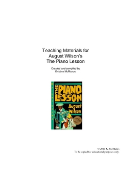 Teaching Unit for The Piano Lesson by August Wilson