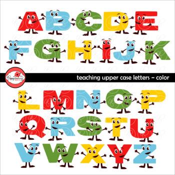Teaching Upper Case Letters Clipart by Poppydreamz
