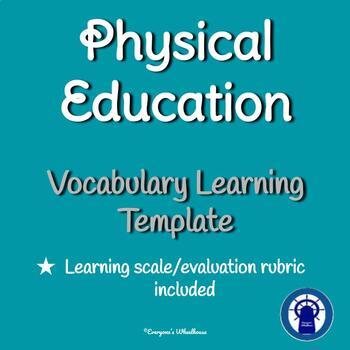 Teaching Vocabulary Template for P. E.
