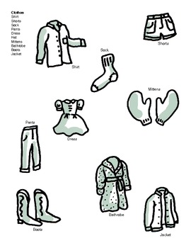 Teaching Vocabulary and Concepts using Clothes