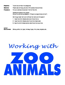 Teaching Vocabulary and Concepts using Zoo Animals