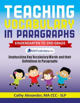Teaching Vocabulary in Paragraphs (K-2nd)