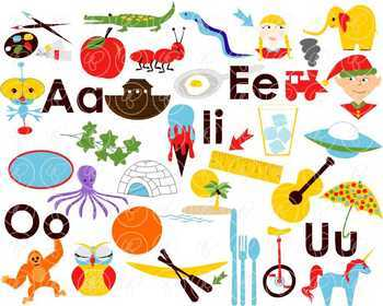Teaching Vowels Clipart by Poppydreamz