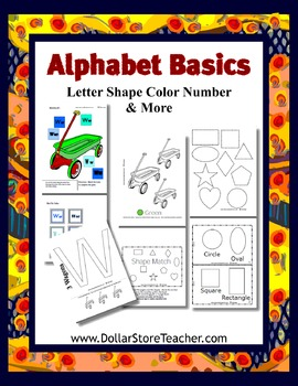 Teaching W - Basic Alphabet Curriculum - Preschool, Day Care & Kindergarten