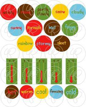 Teaching Weather Clipart by Poppydreamz