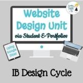 Teaching Website Design Skills via Student E-Portfolios &