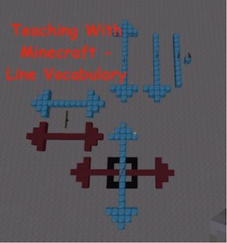 Teaching With Minecraft - Line Vocabulary (point, line, line segment, etc.)