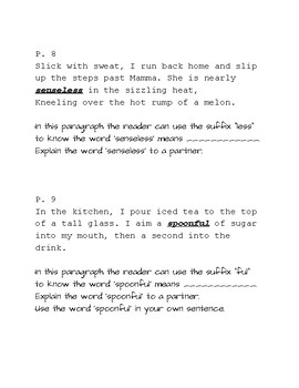 """Teaching Word Meaning with  the text """"Come On, Rain"""" by Karen Hesse"""