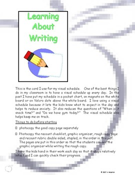 Teaching Writing Formats - Unit #1 Recount