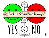 Teaching Yes & No in ASD: Back to School Functional Vocabulary