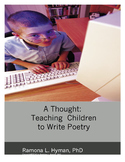 A Thought: Teaching Young Children to Write Poetry